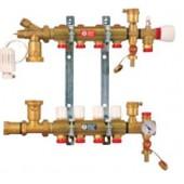 Коллектор для теплого пола Giacomini на 4 выхода с расходомерами