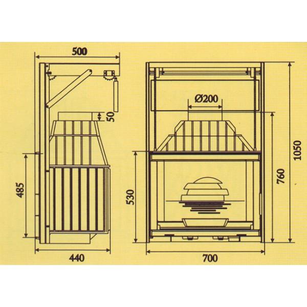 LAUDEL Grande Vision 700 (подъемная дверца) ref. 6876-56