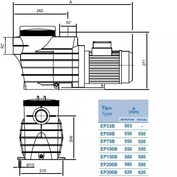 Насос Kripsol EP200 Производительность: 27,8м³/ч