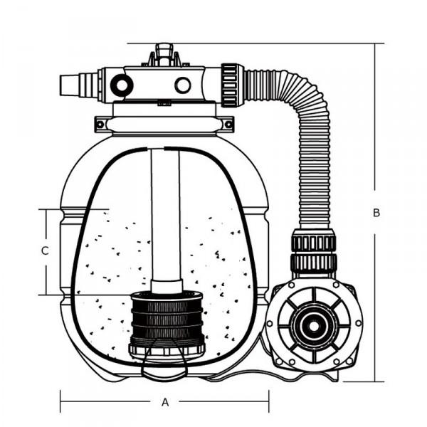 Фильтровальная станция EMAUX FSP300-ST33 Производительность: 4,02м³/ч