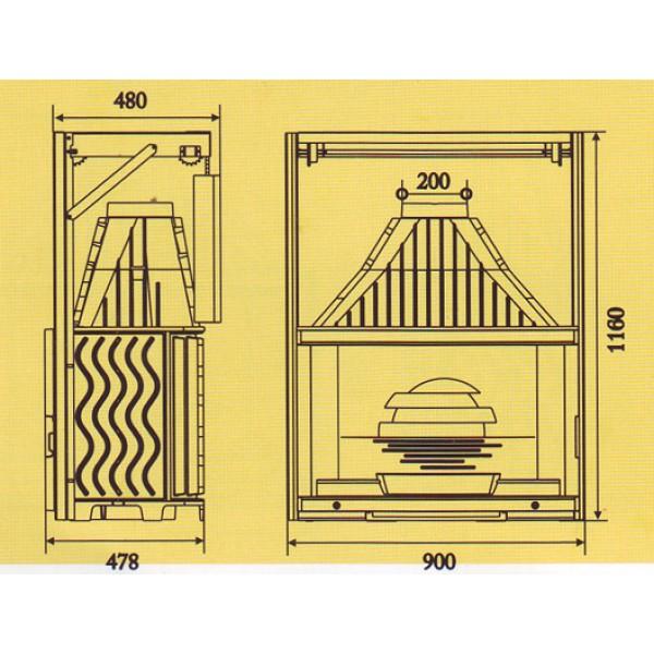 LAUDEL Grande Vision 900 (подъемная дверца)
