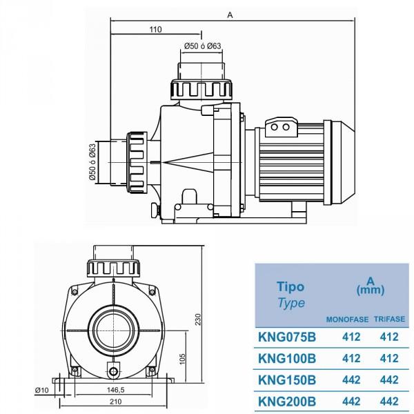 Насос Kripsol KNG200 Производительность: 28,3м³/ч