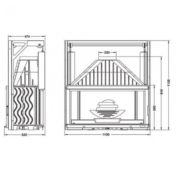 LAUDEL Grande Vision 1100 ref. 6811-56 (подъемная дверца)