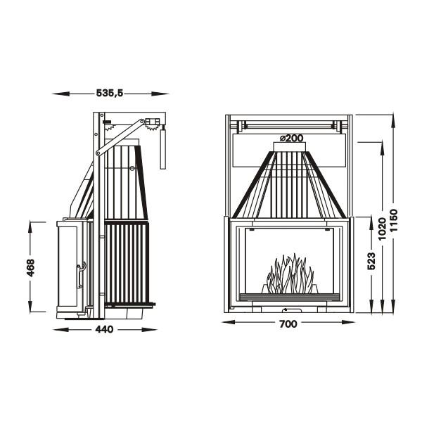 UNIFLAM 700 PRYZMA + подъем двери   ref. 601-683