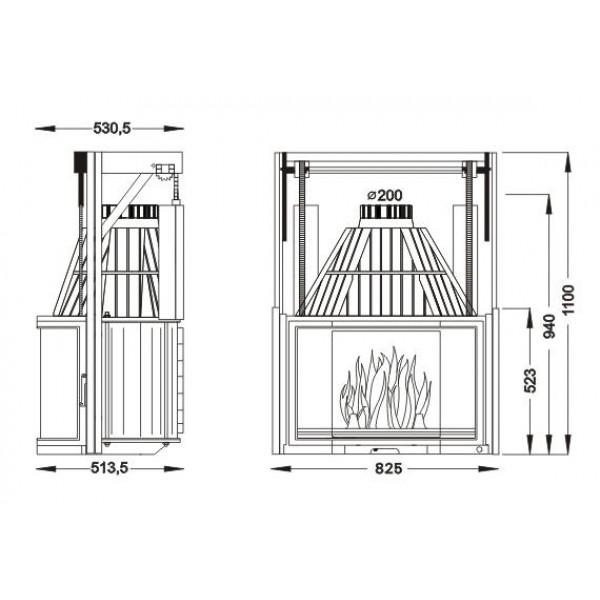 UNIFLAM 850 PRYZMA + подъем двери