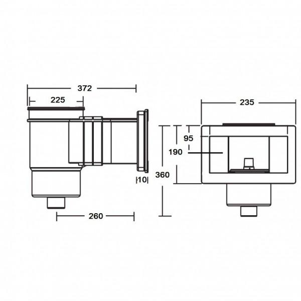 Скиммер под бетон Standard KRIPSOL SKS.C