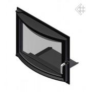 Панорамные дверцы для камина Kratki Zuzia 515x652 мм
